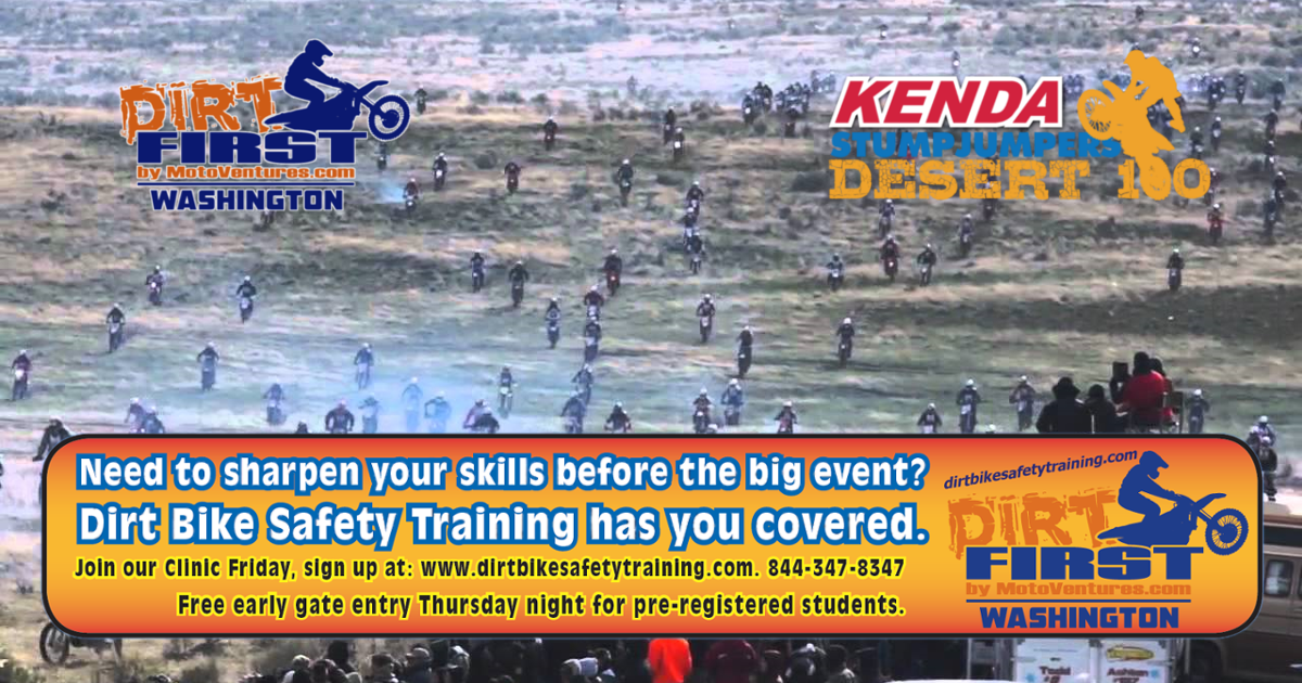 Dirt Bike Safety Training - Official Sponsor Of The 2016 Desert 100