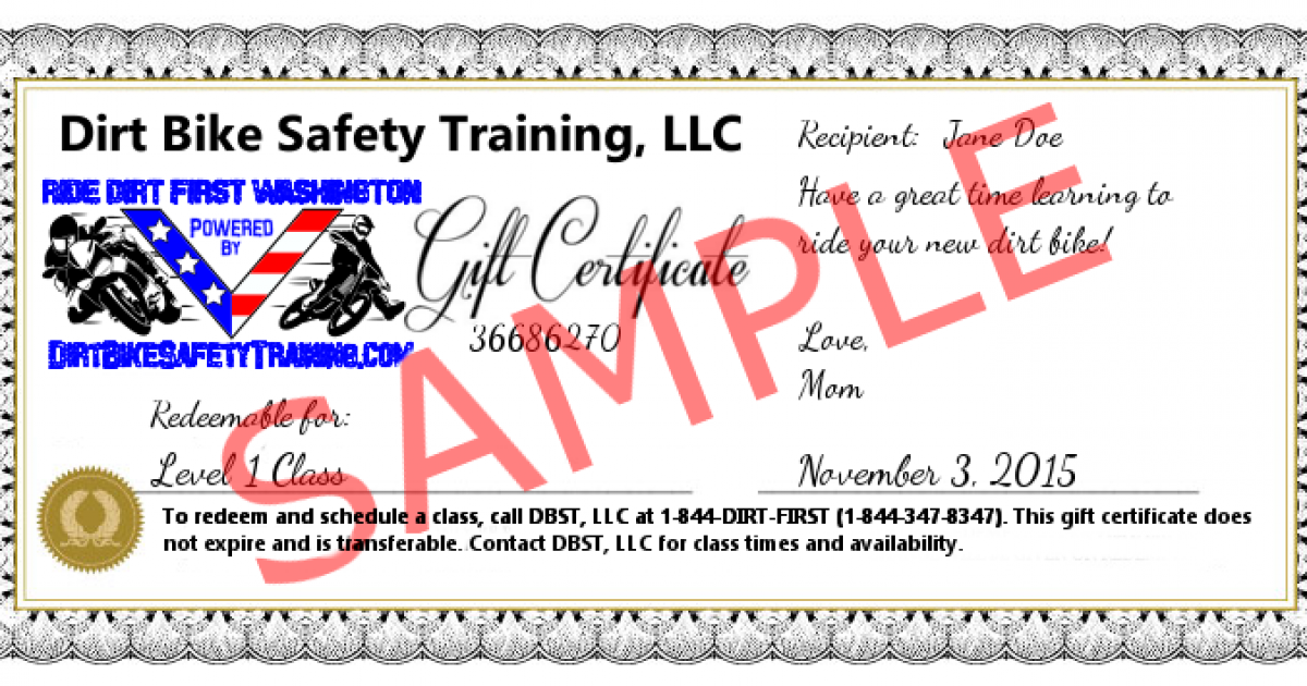 Gift Certificates!